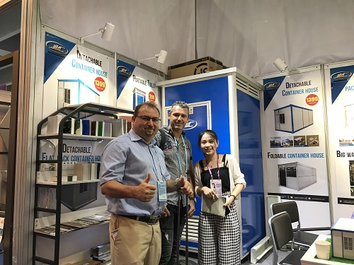 customers and-our staff at canton fair