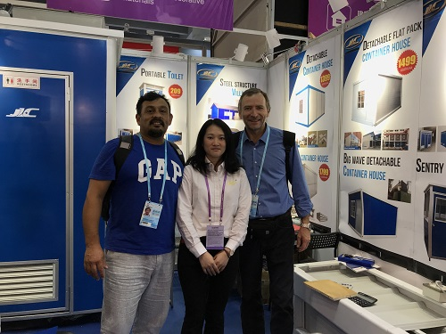 Customers and our staff at Canton Fair