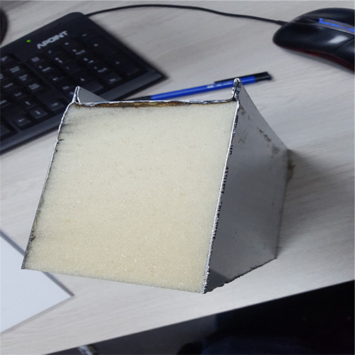 A closed-up of part of PU Sandwich Panel