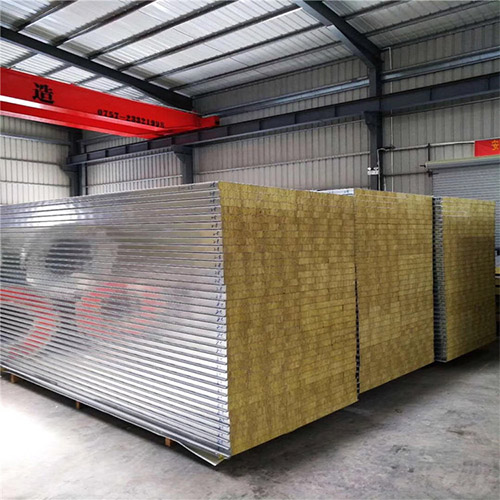 Rock Wool Sandwich Panels in a factory