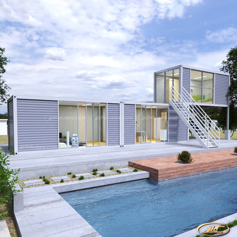 3 room container house