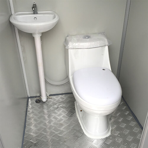 Toilet in bathroom