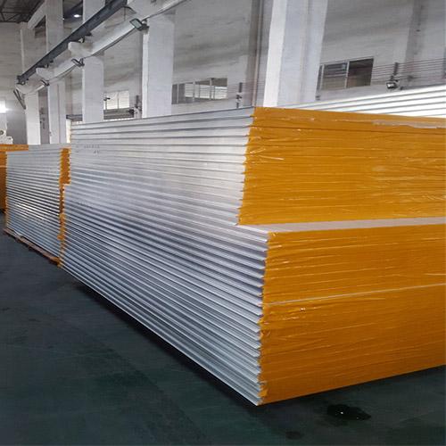 Rock Wool Sandwich Panels in a factory