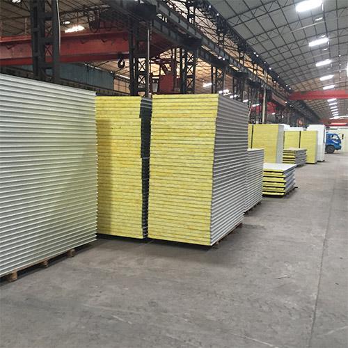 Glass Wool Sandwich Panels in a factory