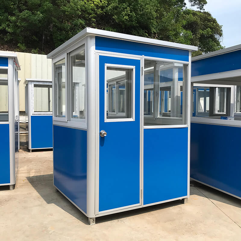 blue portable guard houses