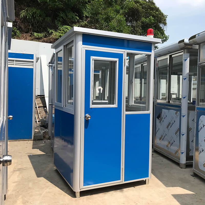 Portable guard houses in the open air