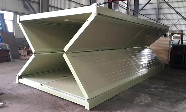 a foldable portable container house folding