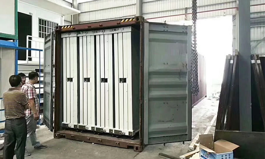 small size folded container house