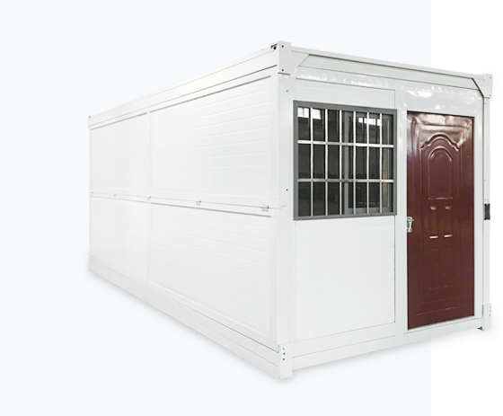 white Foldable Container House with windows and doors