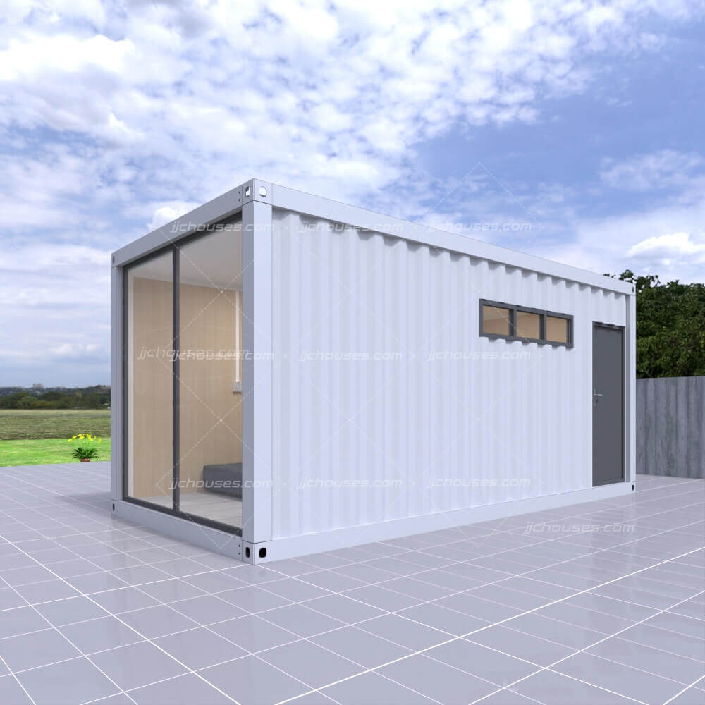 shipping container with side door