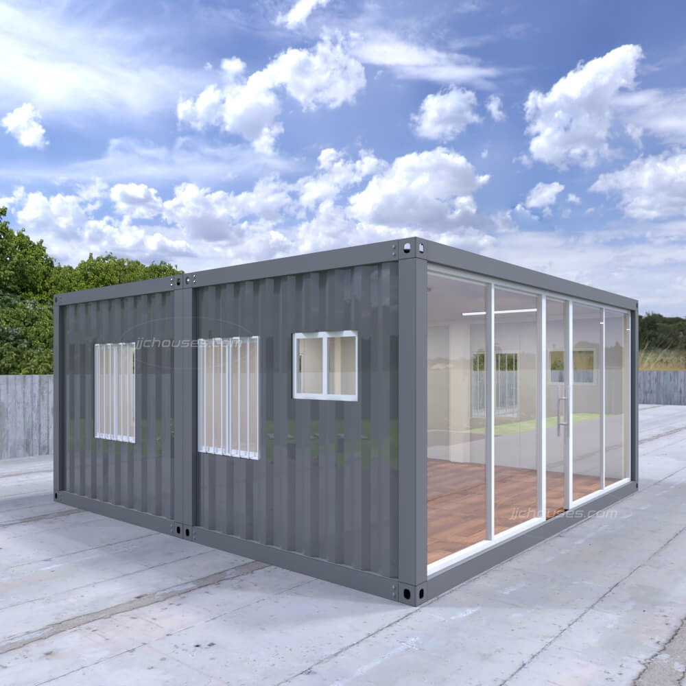 two house shipping container