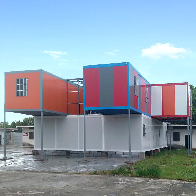 modular Detachable Container Houses stacked together