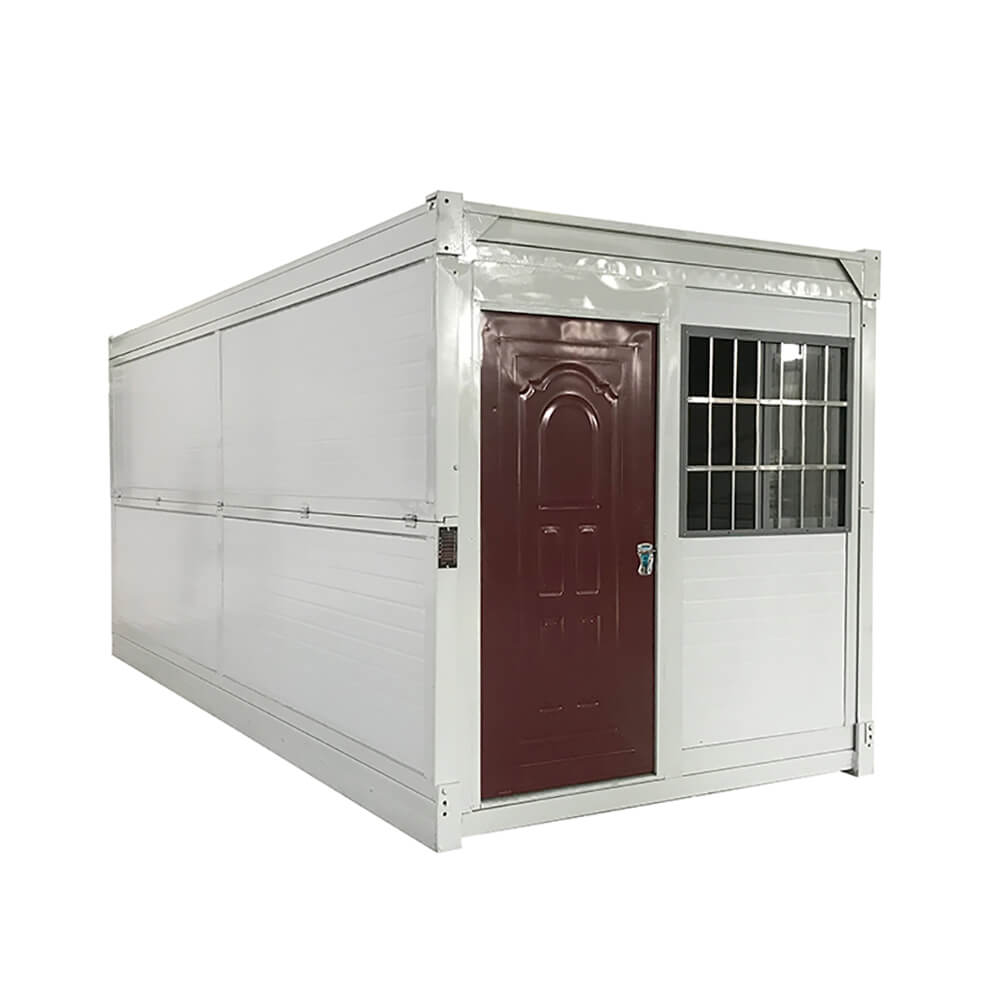 white Foldable Container House with red door