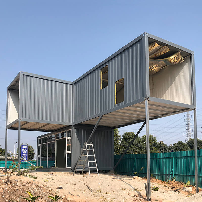 grey detachable shipping container house