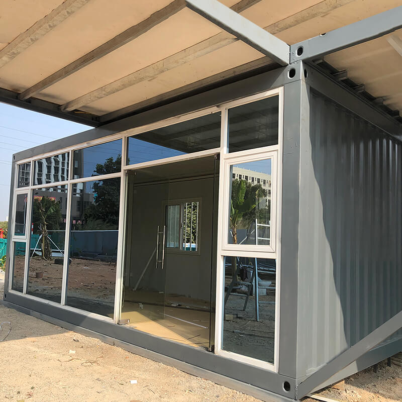 detachable shipping container house with glass