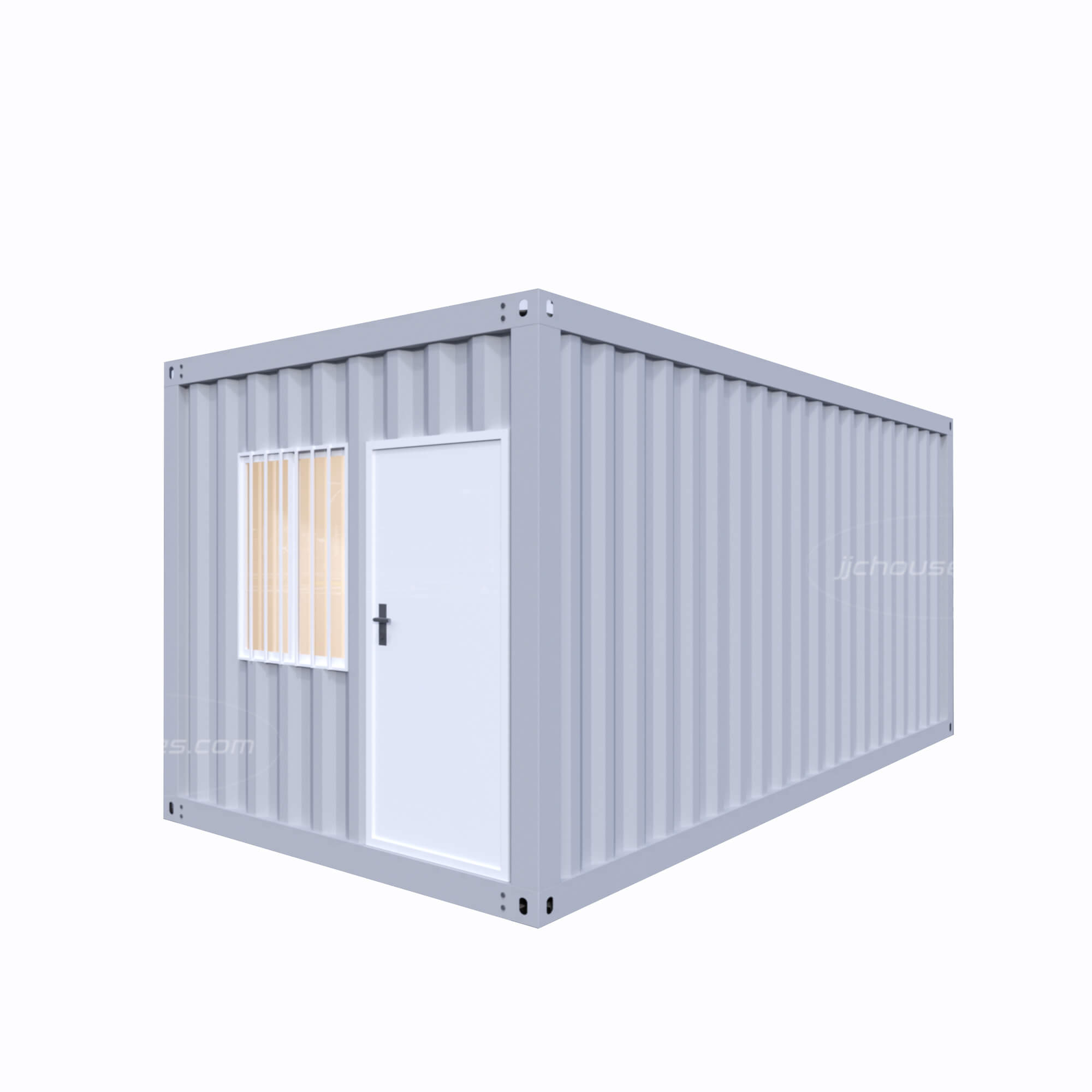 grey shipping container house
