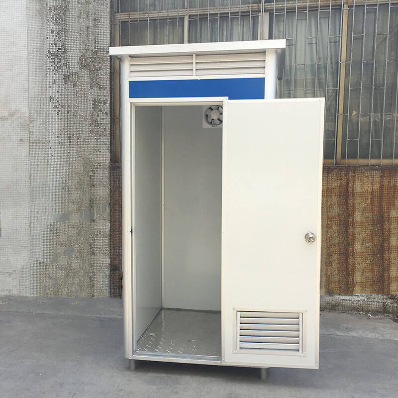 EPS portable shower room with the door open