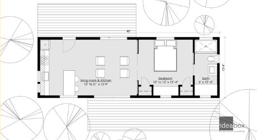 Minibox Prefab Home Floor Plan