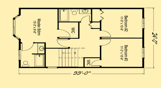 Summer Meadows Upper Floor Plan