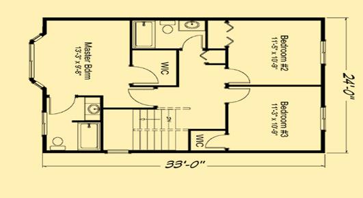 Summer Meadows Upper Floor Plan