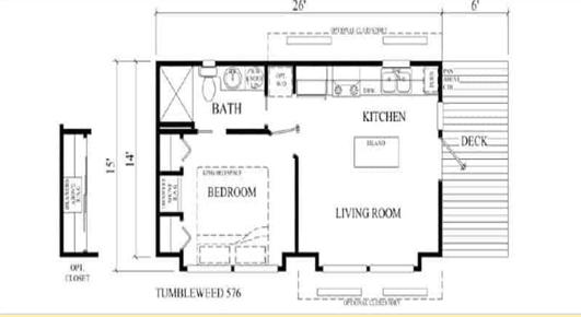 Tumbleweed tiny house floor plan