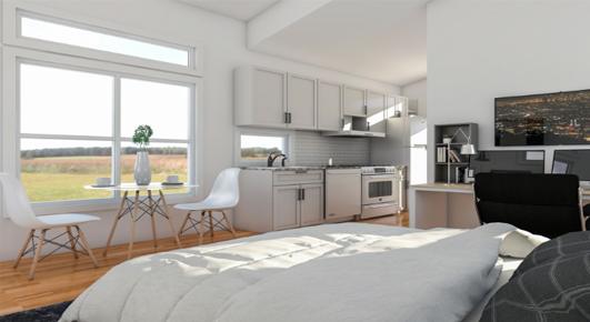 Cozy 300 SF Studio Home - Interior View 1