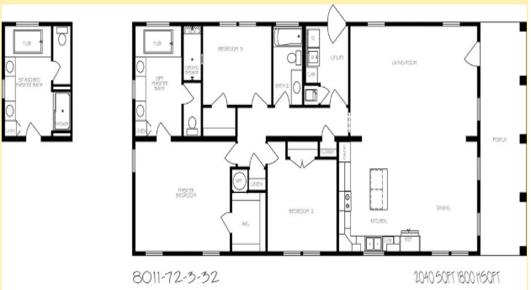 Rosemary Cottage Floorplan 1