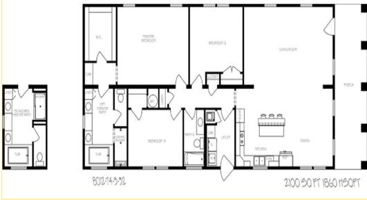 Rosemary Cottage Layout