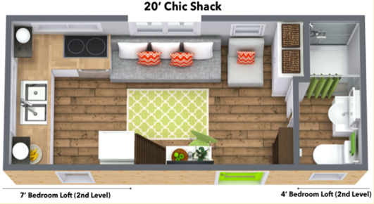 Chic Shack floorplan