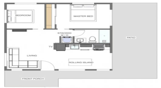 Big Sky 600 prefab house floorplan