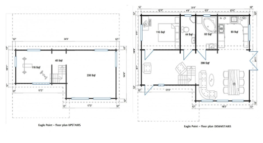 Aruba small prefab floorplan