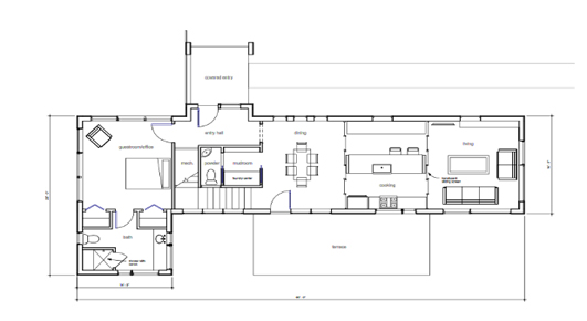 R1 small prefab house floorplan