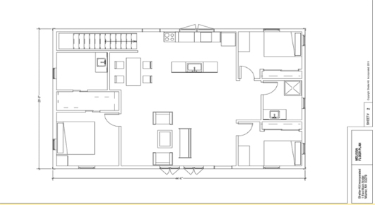 Melissa small prefab house floorplan