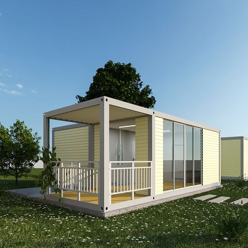 A container home philippines under the blue sky