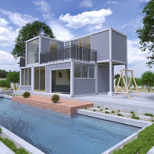 Modular pool house