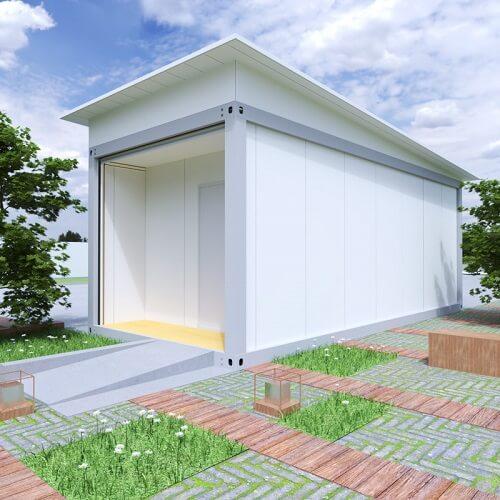 Portable granny house in white