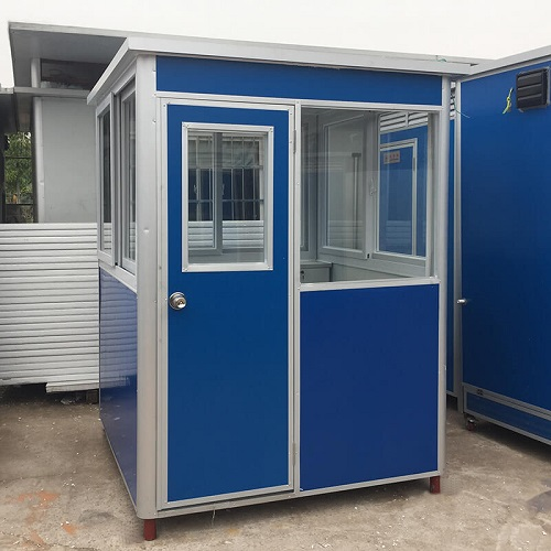 Prefab guard house in blue