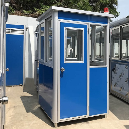 Prefab security guard house in blue