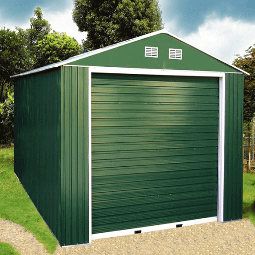 portable carport in green
